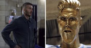 Keď Davidovi Beckhamovi ukážete jeho nepodarenú sochu