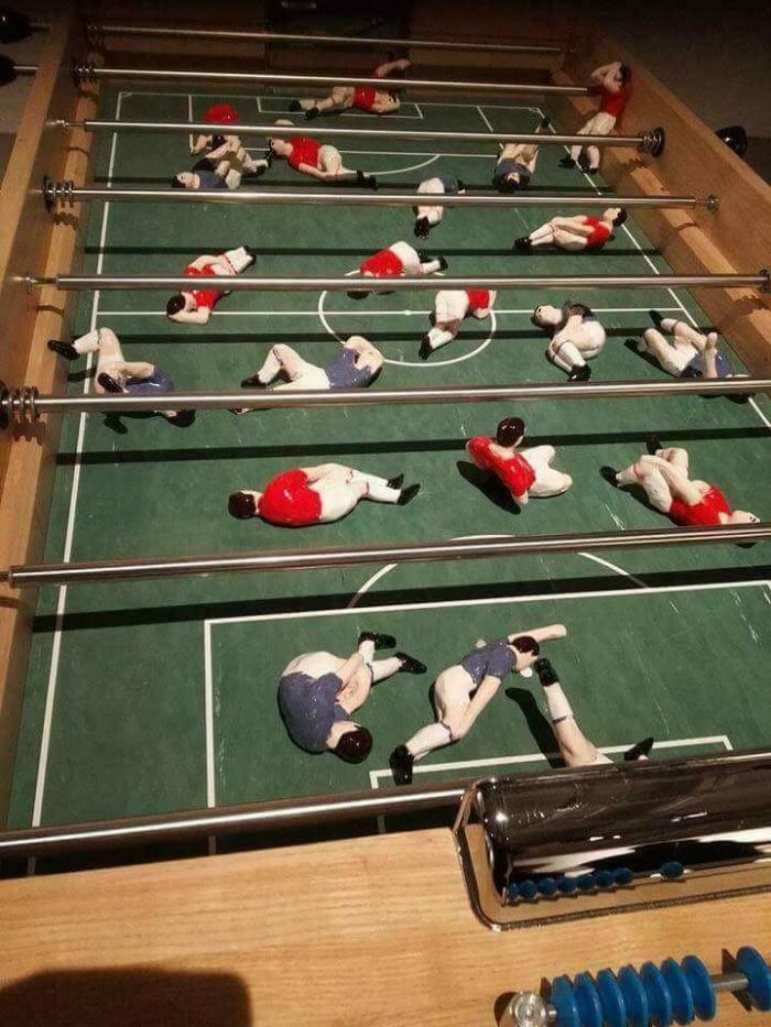 Reálny stolný futbal