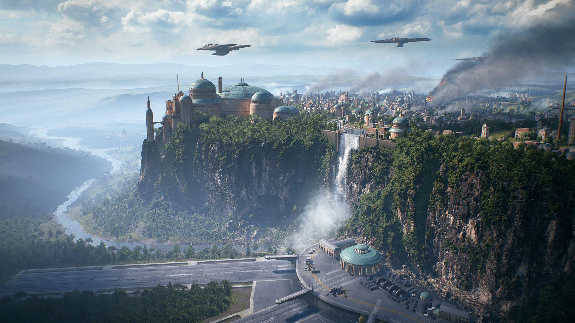 Všetkých jedenásť galaxy assault máp zo Star Wars Battlefront II predstavených