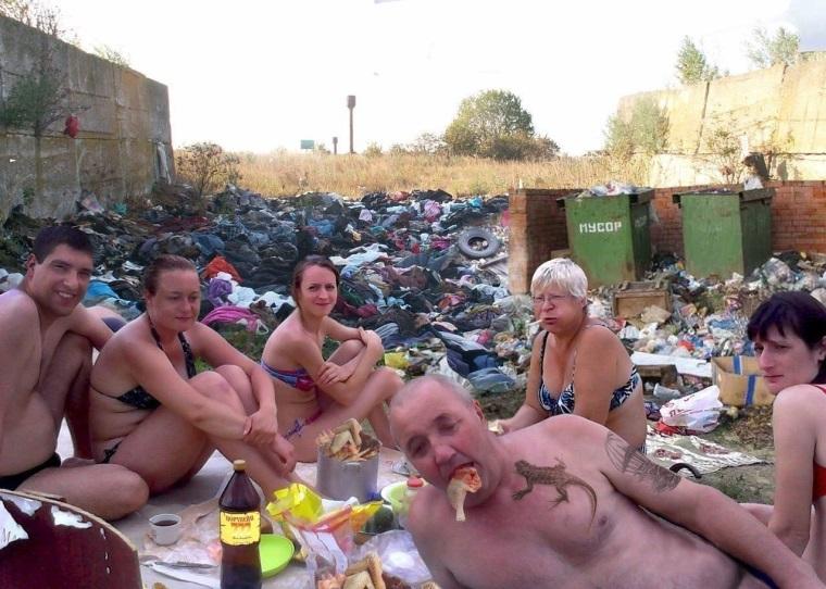 Rodinný piknik v Rusku