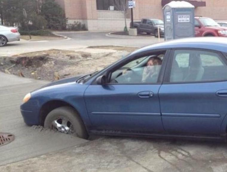Oh nie... myslíte, že som tu nemala parkovať?
