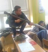 Len bežná vyučovacia hodina v Rusku