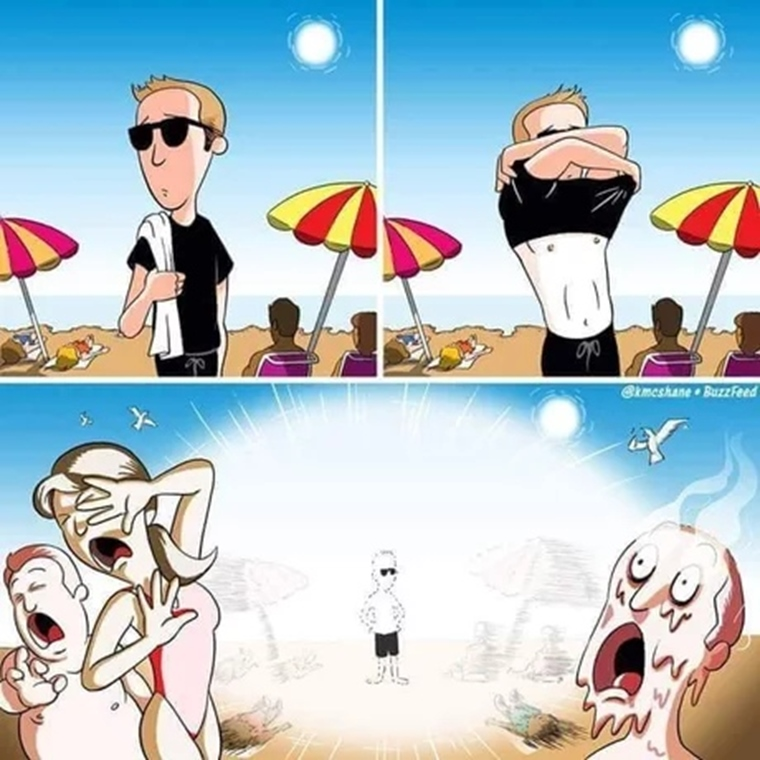 Keď hráč vyjde na pláž