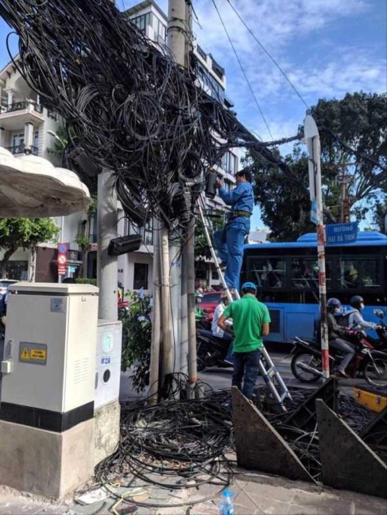 Len bežná kabeláž vo Vietname
