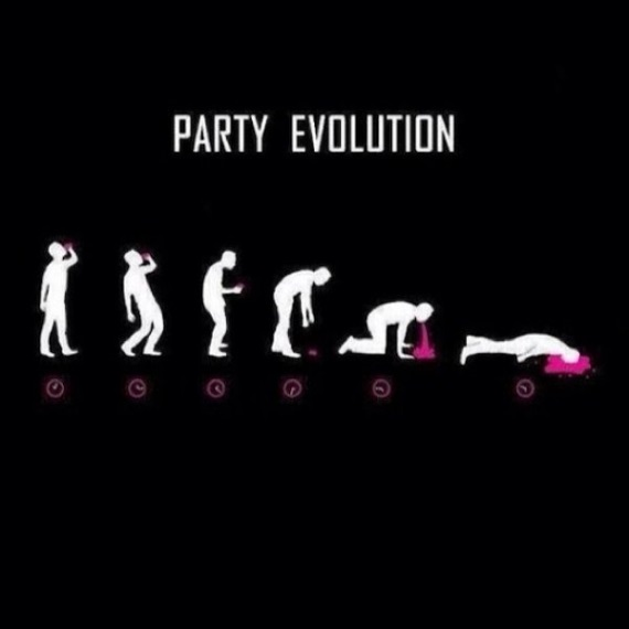 Evolúcia človeka na party