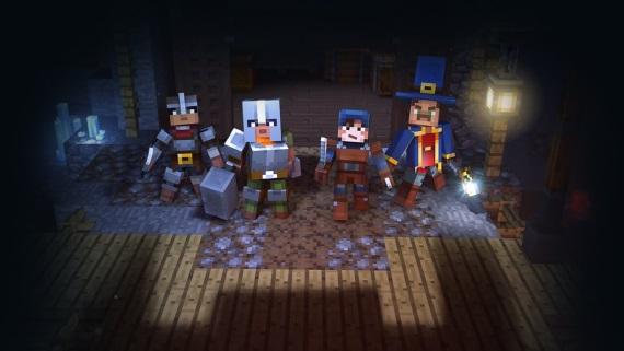 Minecraft: Dungeons priblížený, vtiahne bojovníkov do dungeonov