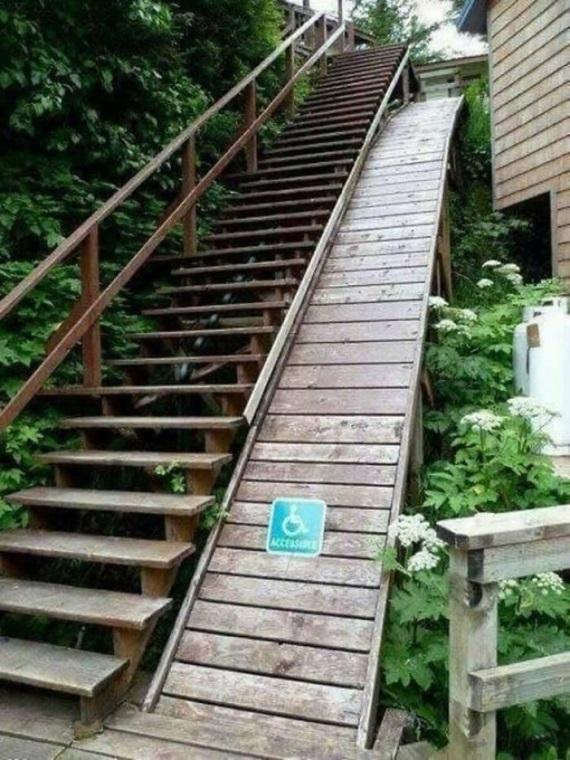 Keď niekto nedomyslí prístup pre vozíčkárov