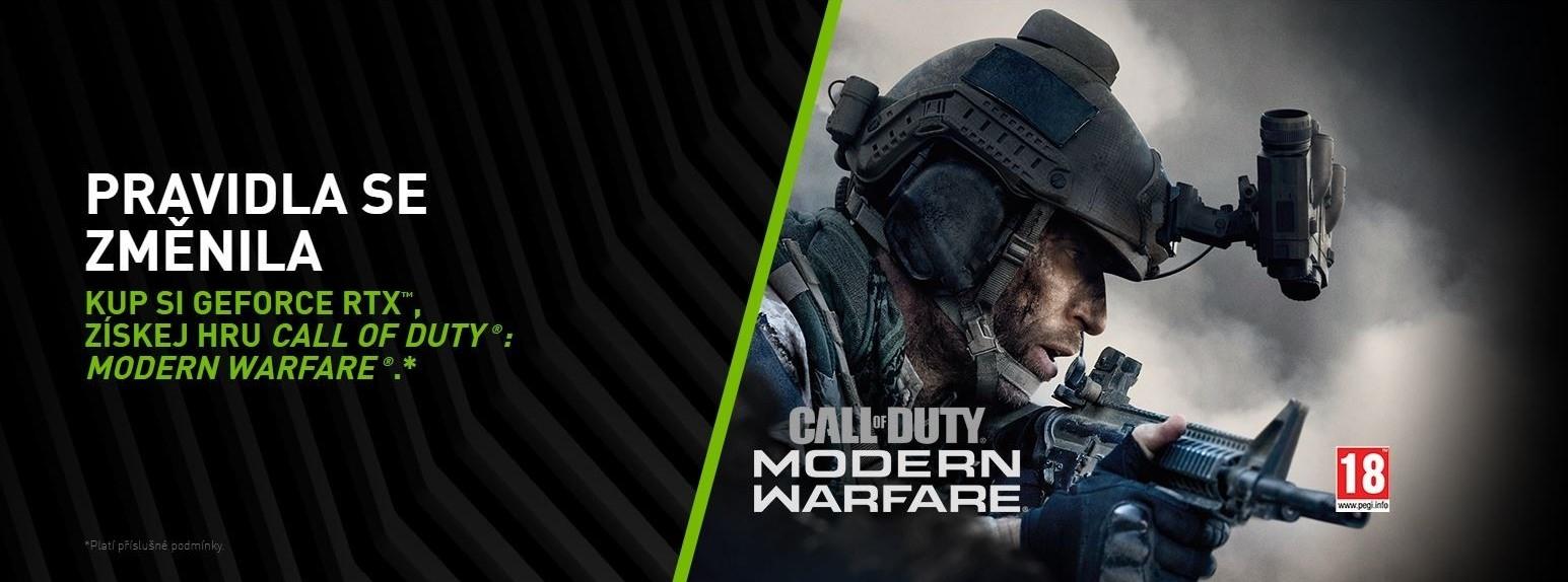 Nvidia pribaľuje Call of Duty Modern Warfare k RTX kartám