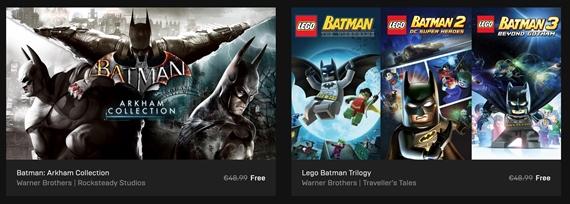 Epic store ponúka šesť Batman hier zadarmo