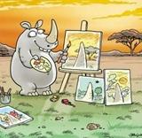 Keď nosorožec maľuje?