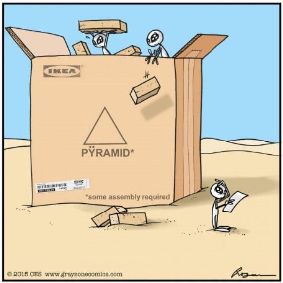 Takto sa stavali pyram�dy