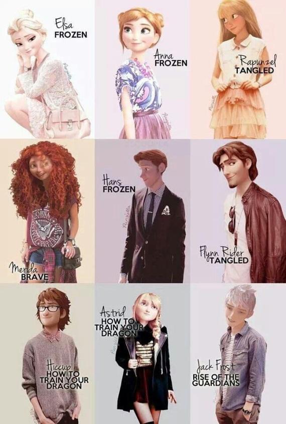 Disney postavy v dnešnej dobe