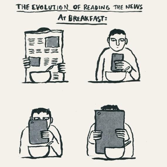 Evolúcia čítania novín...
