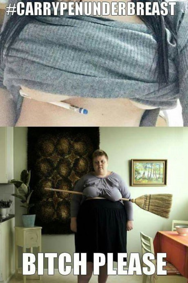 Niečo k tomu novému trendu pchať si pod prsia ceruzky...