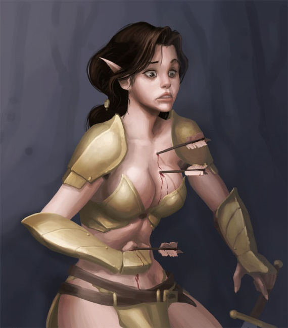 Efektívnosť ženského brnenia vo fantasy svetoch