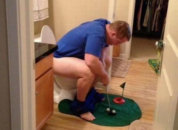 Keď sa na záchode nudíte