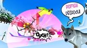 V českej mobilnej hre Mountain Rage sa jeleň pomstí lyžiarom