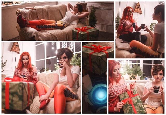 Tracer a Emily z Overwatch posielajú vianočné fotky