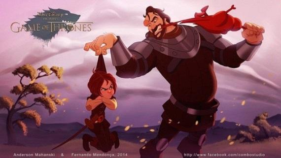 TV seriál Hry o tróny v Disney štýle