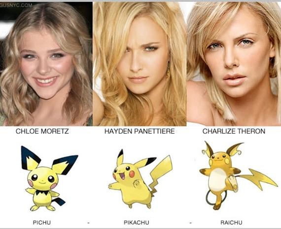 Celebrity ako pokémoni