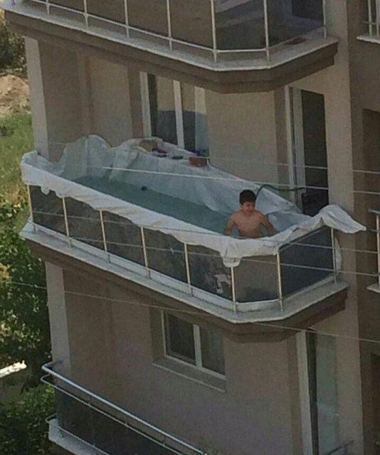 Kúpalisko na balkóne