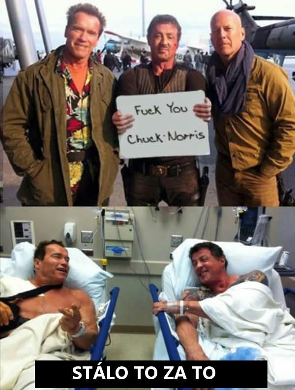 Takto to skončí keď nadávate Chuckovi Norrisovi