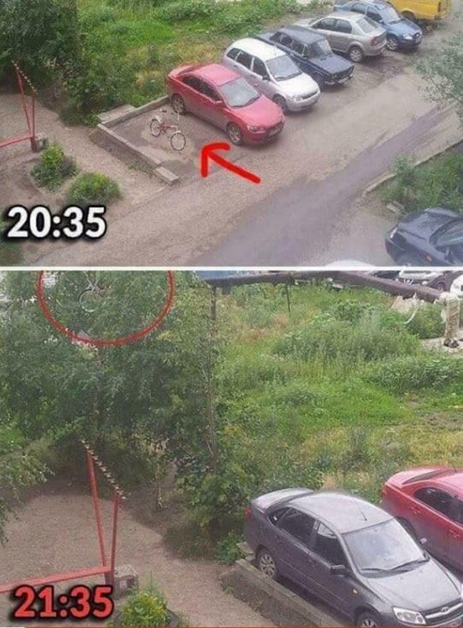 Parkovanie s bicyklom v Rusku