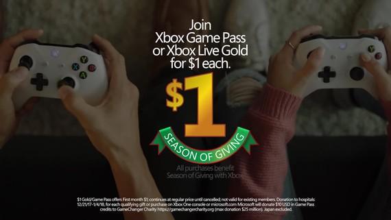 Xbox Live Gold a Game Pass za 1 euro