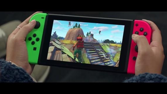 Reklama na Switch verziu Fortnite