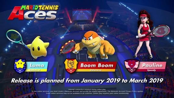 Mario Tennis Aces predstavuje nový obsah na rok 2019