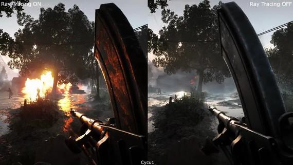 Battlefield V - porovnanie raytracingu