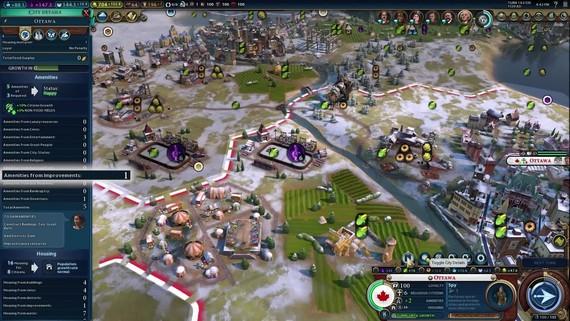 Civilization VI: Gathering Storm predstavuje Kanadu