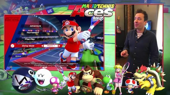Jimmy Fallon si vyskúšal Mario Tennis Aces