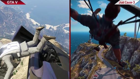 GTA V vs Just Cause 3 porovnanie