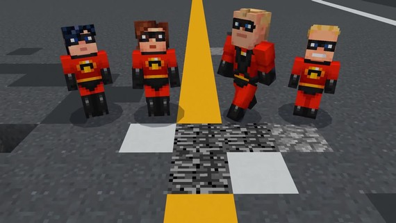Minecraft - Incredibles skin pack
