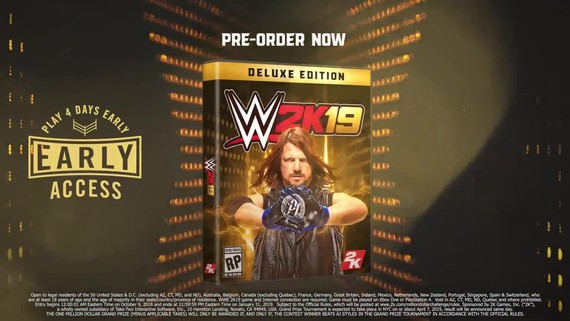 WWE 2K19 - Cover Superstar AJ Styles
