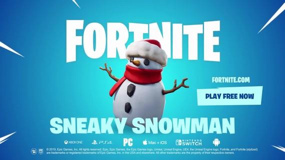 Fortnite doplnil do hry snehuliaka