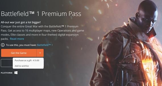 Battlefield 1: Premium Pass je od dnes zadarmo, pridá vám do hry všetky mapy