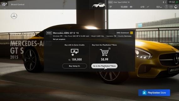 Koľko stoja autá do Gran Turismo Sport?