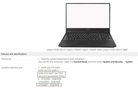Lenovo potvrdilo notebookovú verziu GTX1160 čipu