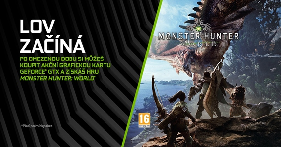 Monster Hunter: World k vybraným herným grafikám Nvidia