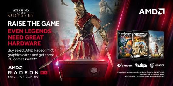AMD rozdáva ku svojim kartám tri hry