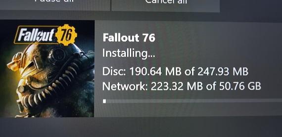 Fallout 76 si aj na Xbox One stiahne viac ako 50 GB