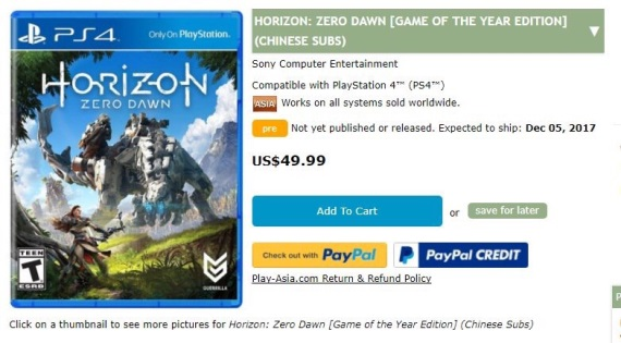 Horizon Zero Dawn: Game of the Year Edition leaknuté
