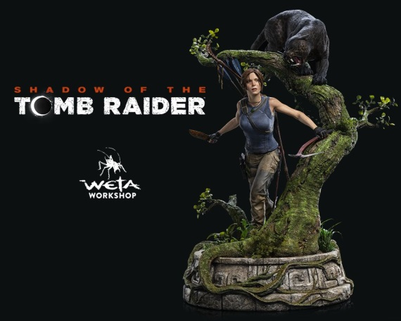 Pohľad na Shadow of the Tomb Raider sošku