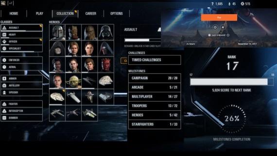 Priemerný hráč odomkne všetkých hrdinov Star Wars Battlefront II za deň