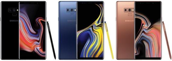 Samsung Galaxy Note 9 ukazuje svoje farby