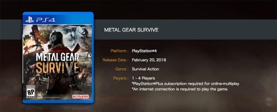 Singleplayer v Metal Gear Survive bude vyžadovať internetové pripojenie