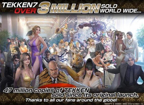 Tekken 7 už predal viac ako 3 milióny kusov