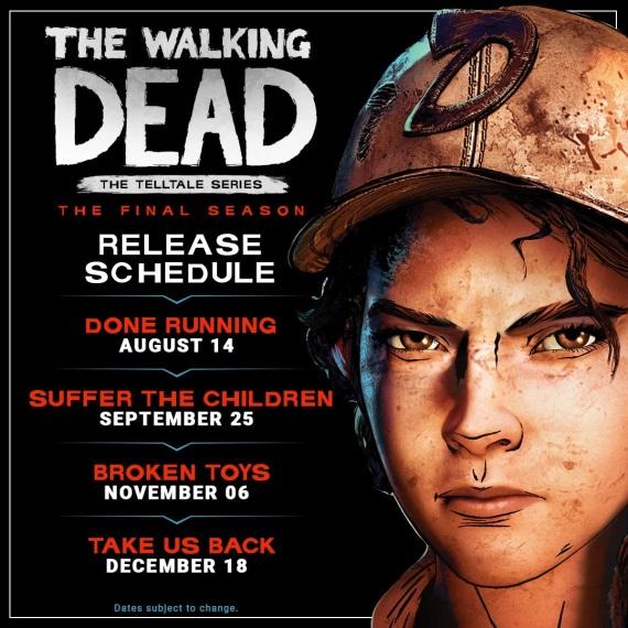 Telltale predstavili plán vydávania epizód pre poslednú sériu The Walking Dead